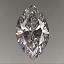 Marquise Cut Diamond 0.36ct D SI1