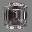 Emerald Cut Diamond 0.97ct D VS1