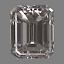 Emerald Cut Diamond 0.25ct F VS2