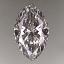 Marquise Cut Diamond 0.45ct D IF