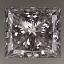 Princess Cut Diamond 0.77ct D VS2