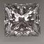 Princess Cut Diamond 0.81ct H SI1