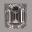 Emerald Cut Diamond 0.62ct F VS1