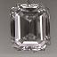 Emerald Cut Diamond 0.53ct D VS1