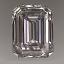 Emerald Cut Diamond 0.62ct G VS1