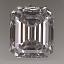 Emerald Cut Diamond 0.66ct D IF