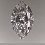 GIA Marquise Cut Diamond 0.27ct D IF