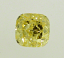 Cushion Cut Diamond 1.62ct Fancy Intense Yellow IF