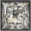 Princess Cut Diamond 0.72ct - F SI1