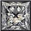 Princess Cut Diamond 0.60ct E SI2