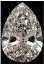 Pear Shape Diamond 0.70ct G VVS2