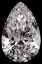 Pear Shape Diamond 0.87ct I VS2
