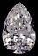 Pear Shape Diamond 0.51ct E SI1