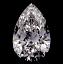 Pear Shape Diamond 0.72ct D VS2