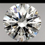Round Brilliant Cut Diamond 0.74ct H SI1