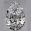 Pear Shape Diamond 0.52ct D VVS1