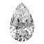 Pear Shape Diamond 0.71ct D VVS1