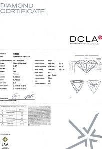 Trilliant Cut Diamond 0.57ct - F SI1