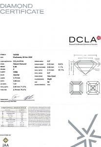 Asscher Cut Diamond 0.30ct - F VVS2