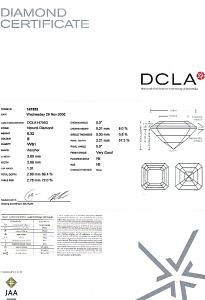 Asscher Cut Diamond 0.32ct - E VVS1