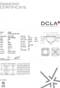 Asscher Cut Diamond 0.35ct - D VVS1