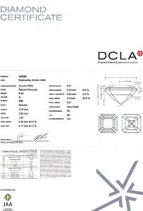 Asscher Cut Diamond 0.31ct - E VS1