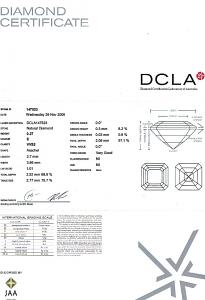Asscher Cut Diamond 0.27ct - E VVS2