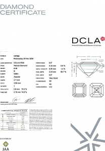 Asscher Cut Diamond 0.30ct - E VVS1