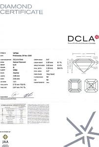 Asscher Cut Diamond 0.31ct - D VVS2