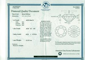 Round Brilliant Cut Diamond 0.33ct - E VVS1