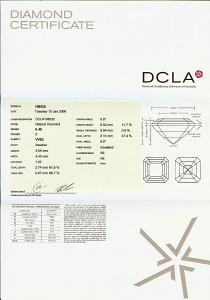 Asscher Cut Diamond 0.46ct - F VVS2