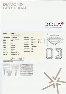 Emerald Cut Diamond 0.44ct - F VS2
