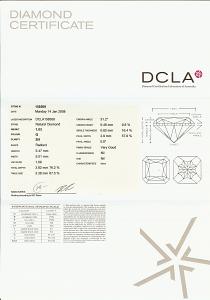 Square Radiant Cut Diamond 1.03ct - Q SI1