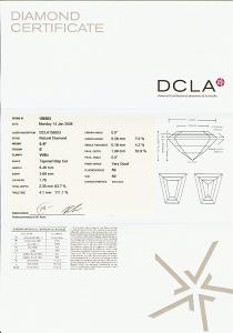 Tapered Baguette Diamond 0.47ct - E VVS1