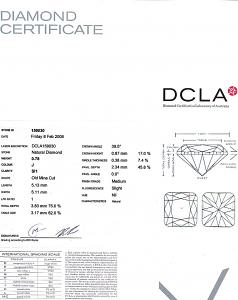 Old Mine Cut Diamond 0.78ct - J SI1