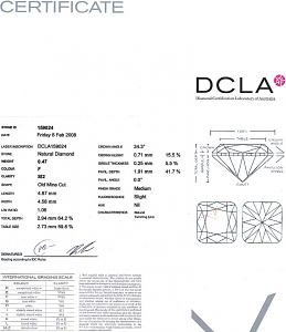 Old Mine Cut Diamond 0.47ct - F SI2