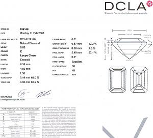 Emerald Cut Diamond 0.83ct - E IF