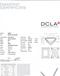 Baguillion Cut Diamond 0.41ct - G VVS1