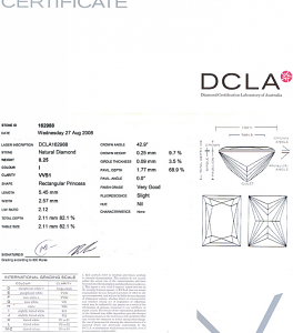 Baguillion Cut Diamond 0.25ct - I VVS1