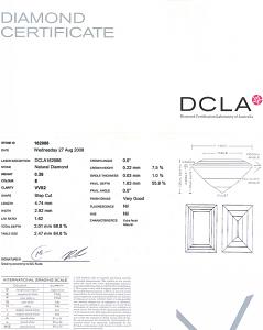 Baguette Cut Diamond 0.28ct - E VVS2