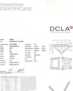 Trapezoid Cut Diamond 0.33ct - G VS1