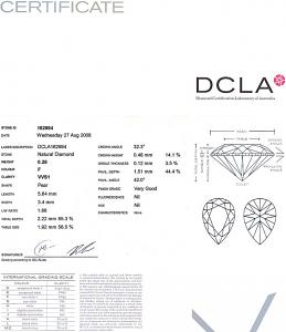 Pear Shape Diamond 0.26ct - F VVS1