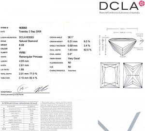 Baguillion Cut Diamond 0.22ct - F VVS2