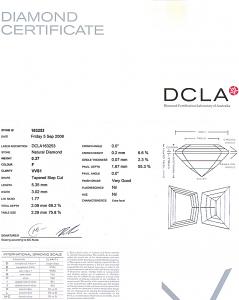 Cadi Cut Diamond 0.27ct - F VVS1