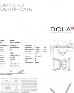 Cadi Cut Diamond 0.37ct - F VVS2