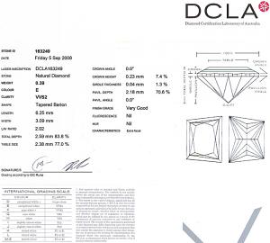 Trapezoid Cut Diamond 0.39ct - E VVS2