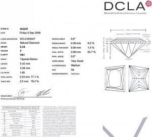 Trapezoid Cut Diamond 0.34ct - F VS1
