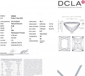 Baguillion Cut Diamond 0.28ct - F VS1