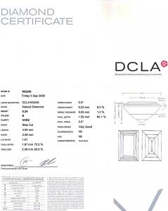 Baguette Cut Diamond 0.24ct - E VVS2