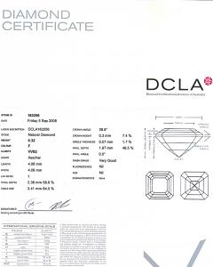 Asscher Cut Diamond 0.32ct - F VVS2
